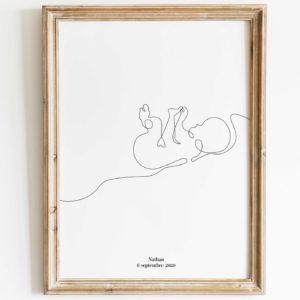affiche-line-art-bébé