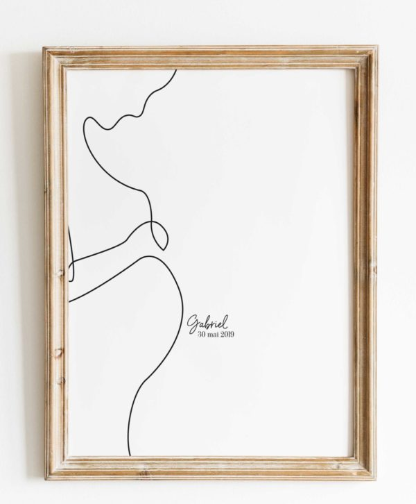 affiche-line-art-femme-enceinte