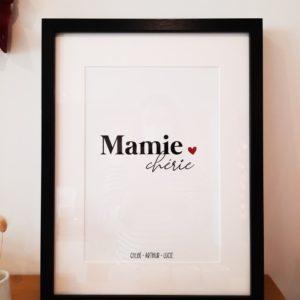 affiche-mamie-chérie-prénom-personnalisation