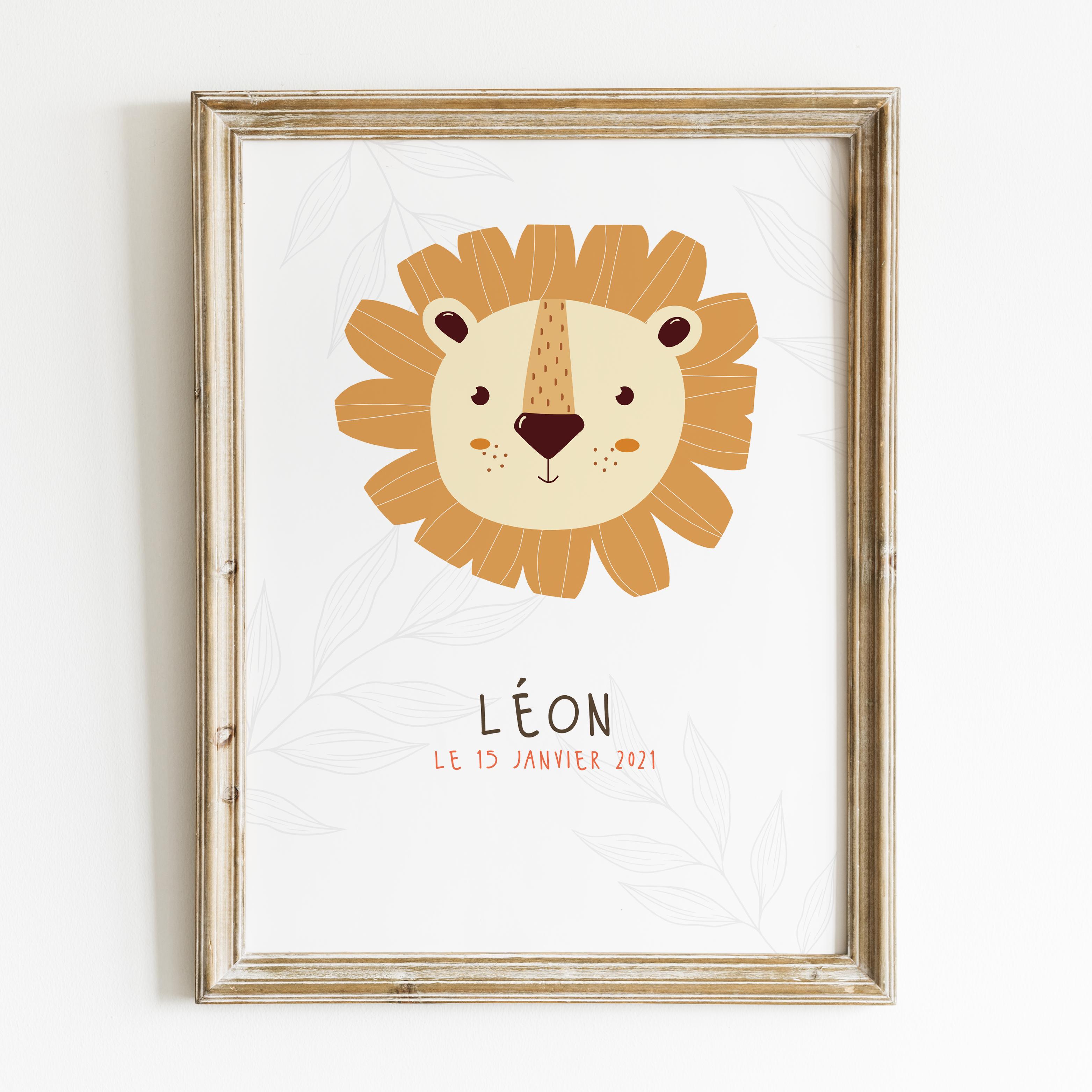 affiche-lion-personnalisée